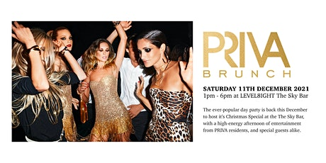 PRIVA Christmas Brunch - December 11th - LEVEL8IGHT The Sky Bar tickets