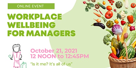 Workplace Wellbeing for Managers tickets