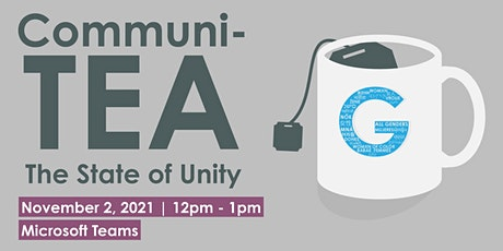 CommuniTEA: State of Unity tickets