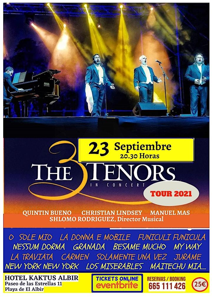 Imagen de LOS 3 TENORES EN CONCIERTO. EL ALBIR