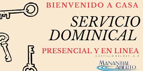 Servicio Dominical 22 de Agosto boletos