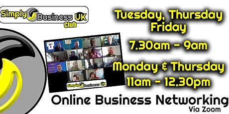 Simply Business Club - Online Networking tickets