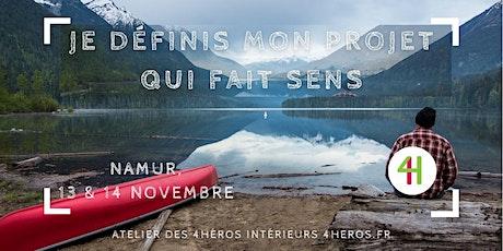 « Je définis et/ou valide un projet qui fait sens », Namur, 13-14 novembre billets