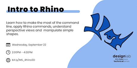 Intro to Rhino tickets