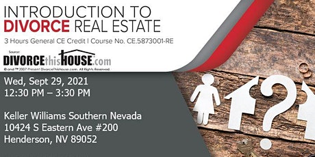 Introduction to Divorce Real Estate tickets