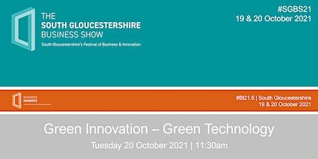 Green Innovation – Green technology tickets