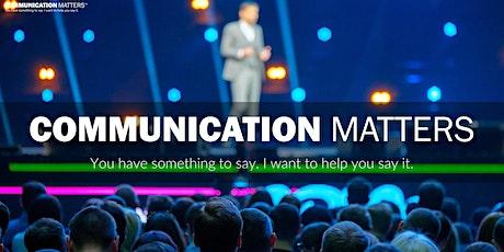 Communication Matters tickets