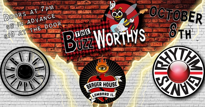 '90s Rock Night w/ The Buzz Worthys, Rhythm Giants, and Grunge Puppets image