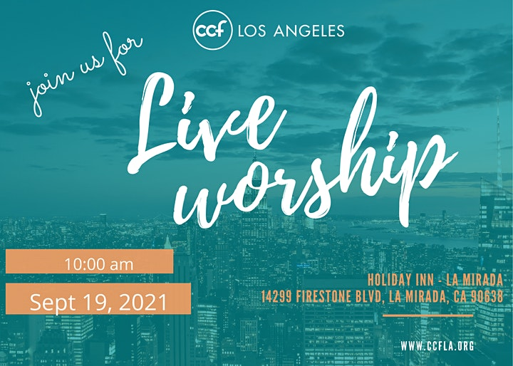CCFSoCAL In-person Worship Service image