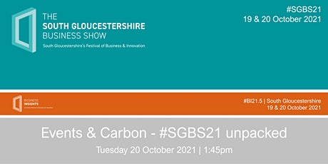 Events & Carbon - #SGBS21 unpacked tickets
