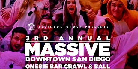 3rd Annual Massive Downtown San Diego Onesie Bar Crawl and Ball tickets