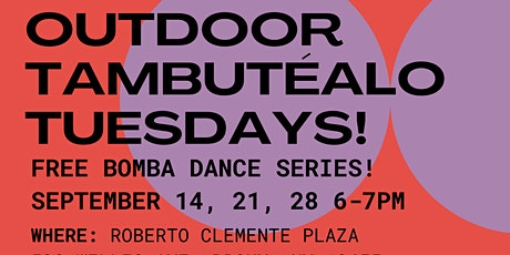 FREE Outdoor Bomba Dance Classes in Roberto Clemente Plaza tickets