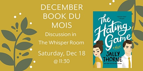 December Book du Mois: The Hating Game tickets