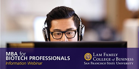 MBA for Biotech Professionals - Information Webinar tickets