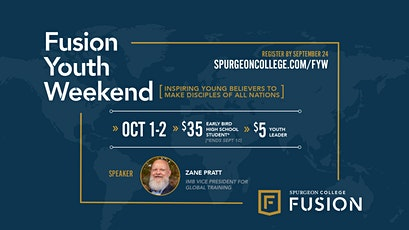 Fusion Youth Weekend 2021 | Oct. 1st and 2nd tickets