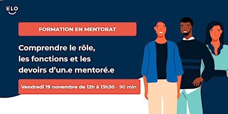 Formation en mentorat: quelles sont les responsabilités d'un.e mentoré.e? biglietti