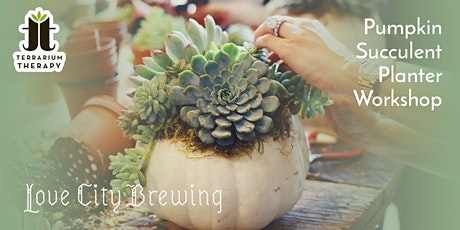 In-Person Pumpkin Succulent Workshop at Love City Brewing tickets