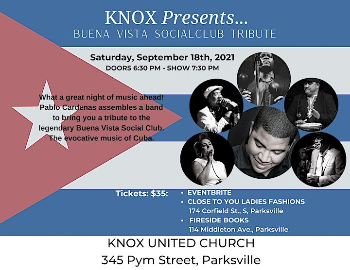 Knox Presents...Pablo Cardenas and the music of the Buena Vista Social Club image