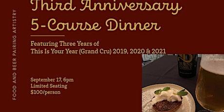 Third Anniversary 5-Course Artisan Beer Pairing Dinner tickets