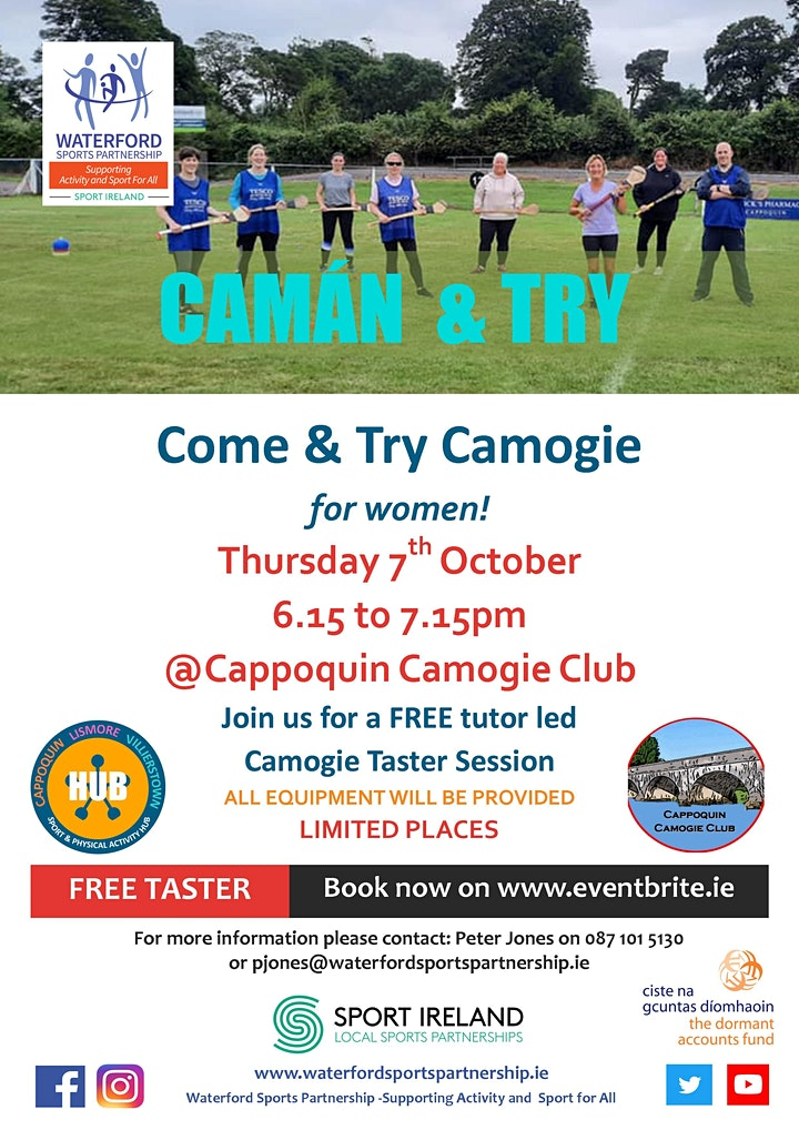 Camán & Move - Try Camogie for Women  in West Waterford image