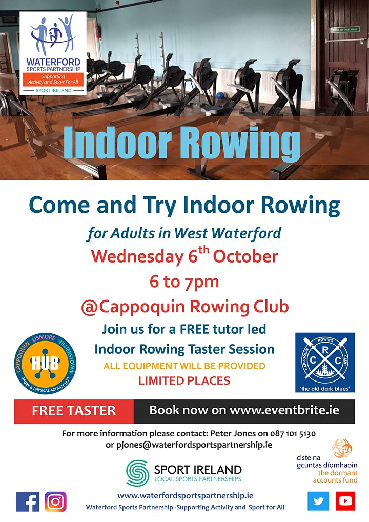 Come & Try Indoor Rowing for Adults in West Waterford image