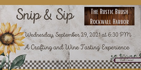 Snip & Sip - A Card-Making & Wine-Tasting Event tickets