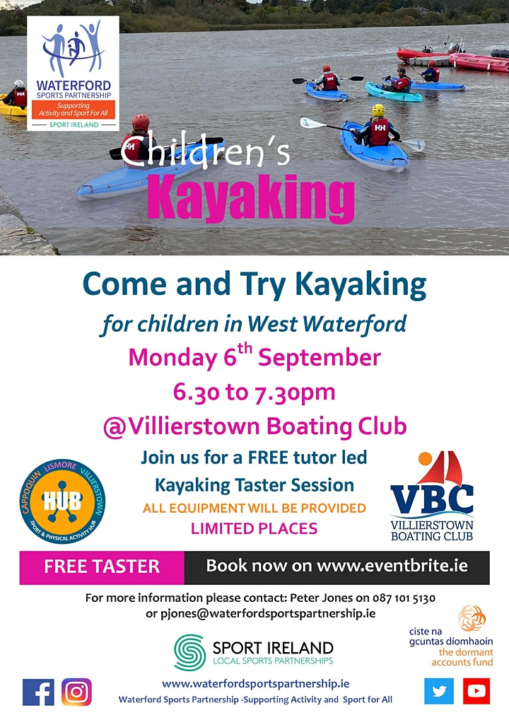 Come & Try Kayaking for Children in West Waterford image
