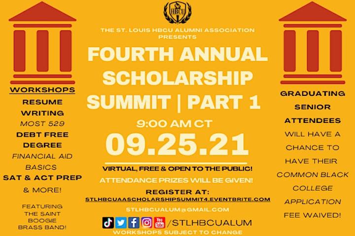 4th Annual Scholarship Summit - St. Louis HBCU Alumni Association image