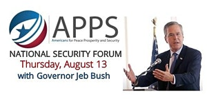 APPS National Security Forum with Governor Jeb Bush