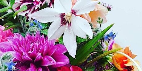 Seasonal Autumn hand tie bouquet workshop tickets
