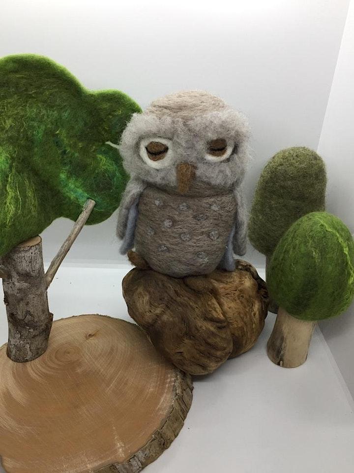 Needle Felting Owl Workshop image