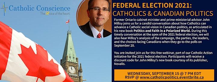 2021 FEDERAL ELECTION: Catholics & Canadian Politics ft. John Milloy image