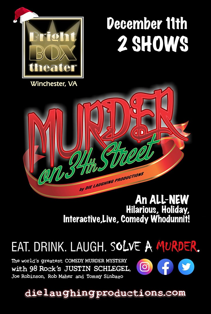 """""""Murder on 34th Street"""" - A Murder Mystery Comedy Show // 7PM SHOW image"""