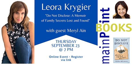 """Leora Krygier, """"Do Not Disclose: A Memoir of Family Secrets Lost and Found"""" Tickets"""