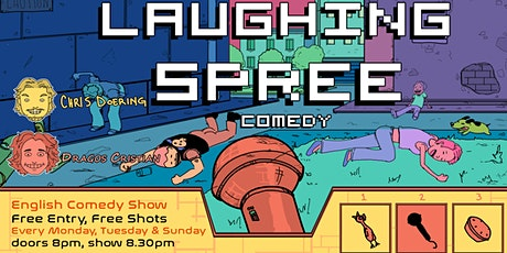 Laughing Spree: English Comedy on a BOAT (FREE SHOTS) 04.10. Tickets
