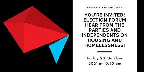 Shelter SA Election Forum - Housing and Homelessness tickets