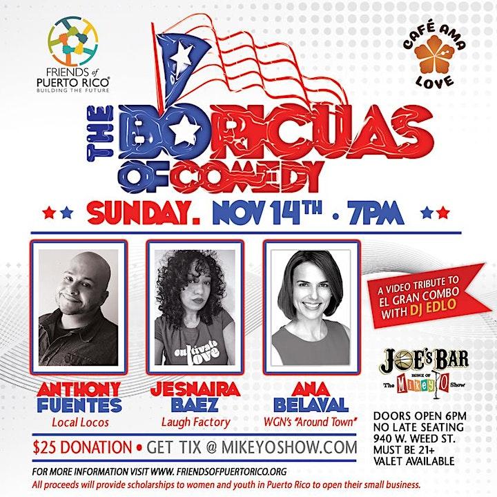 The Boricuas of Comedy Fundraiser image