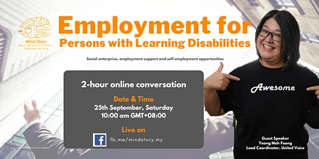 Employment for Persons with Learning Disabilities tickets