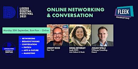 Leeds Digital Festival Online Networking & Conversation 20th September tickets
