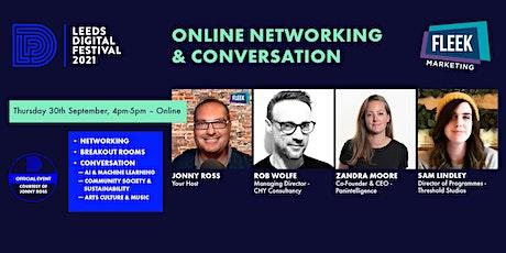 Leeds Digital Festival Online Networking & Conversation 30th September tickets