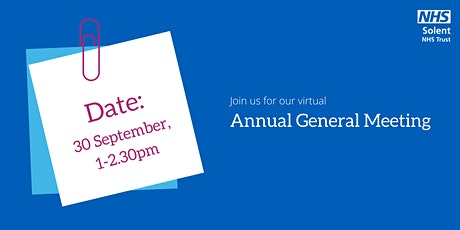 Solent NHS Trust Annual General Meeting 2021 tickets