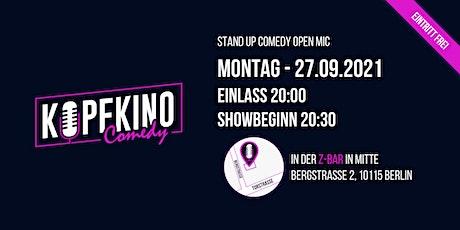 Kopfkino Comedy: Stand-Up Comedy Open Mic am 27.9. Tickets