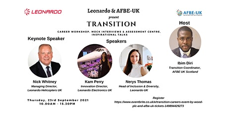 Transition Careers Event by Leonardo   and AFBE UK tickets
