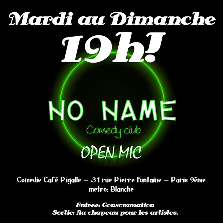 Image pour No name comedy club: Open MIc