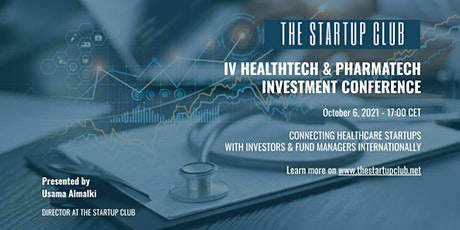 IV HealthTech & PharmaTech Investment Conference tickets
