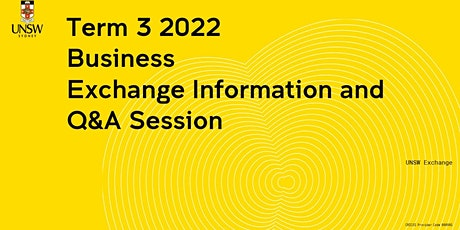 Business  Exchange Information Session tickets