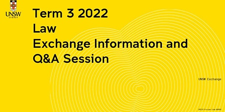 Law  Exchange Information Session tickets
