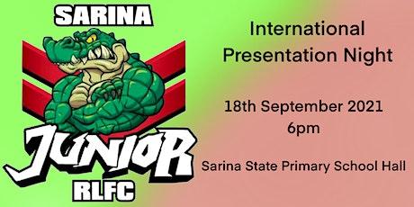 Sarina Junior Rugby League International Presentation tickets