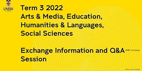 Arts & Media, Education, Humanities & Languages, Social Sciences Exchange tickets