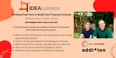 Funding prep! How to build your financial forecast.